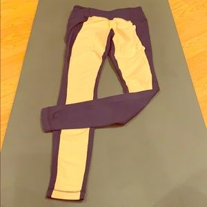 Lululemon wunder under color block leggings